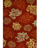 RugStudio presents Couristan Outdoor Escape Sea Reef Terra Cotta Hand-Hooked Area Rug