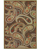 RugStudio presents Couristan Covington Marisol Chocolate/Tangerine Hand-Hooked Area Rug