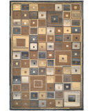 RugStudio presents Couristan Super Indo Natural Collec Abstractsquares Brown Woven Area Rug