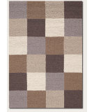 RugStudio presents Couristan Super Indo Natural Colors Checkers Beige/Brown Area Rug