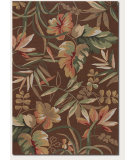 RugStudio presents Couristan Covington Boca Retreat Light Cocoa/Fern Hand-Hooked Area Rug