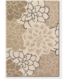RugStudio presents Couristan Super Indo Colors Oleander Beige/White Hand-Tufted, Better Quality Area Rug