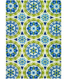 RugStudio presents Couristan Covington Astral Azure/Lemon Hand-Hooked Area Rug