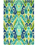RugStudio presents Rugstudio Sample Sale 78975R Azure/Lemon Hand-Hooked Area Rug
