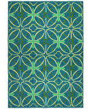 RugStudio presents Couristan Fresco Netherlands Aqua Blue Hand-Hooked Area Rug