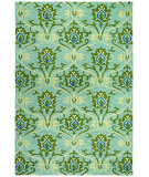 RugStudio presents Couristan Fresco Regency Seafoam Hand-Hooked Area Rug