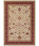 RugStudio presents Couristan Antalya Manisa Cream/Ruby Machine Woven, Good Quality Area Rug