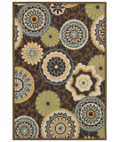 RugStudio presents Couristan Covington Stella Chocolate/Multi Area Rug