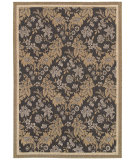 RugStudio presents Couristan Monaco Palermo Black/Champagne Machine Woven, Good Quality Area Rug