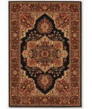 RugStudio presents Couristan Everest Antique Sarouk Black Machine Woven, Good Quality Area Rug