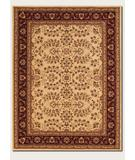 RugStudio presents Couristan Anatolia Antique Herati Cream 2867-0007 Machine Woven, Good Quality Area Rug