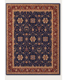 RugStudio presents Couristan Anatolia All Over Vase Navy/Red Machine Woven, Good Quality Area Rug
