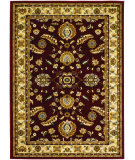 RugStudio presents Couristan Anatolia Floral Heriz Red/Cream Machine Woven, Good Quality Area Rug