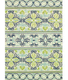 RugStudio presents Couristan Covington Pegasus Ivory/Navy/Lime Area Rug