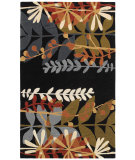 RugStudio presents Couristan Ambrosia Wildflowers Black/Multi Machine Woven, Good Quality Area Rug