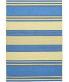 RugStudio presents Couristan 5 Seasons South Padre Blue/Cream Machine Woven, Good Quality Area Rug