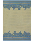 RugStudio presents Couristan 5 Seasons Shoreline Cream/Blue Machine Woven, Good Quality Area Rug