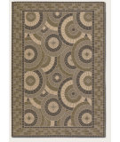 RugStudio presents Couristan 5 Seasons Sundial Cream/Green Machine Woven, Good Quality Area Rug