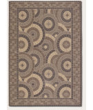 RugStudio presents Couristan 5 Seasons Sundial Cream/Brown Machine Woven, Good Quality Area Rug