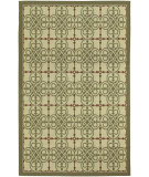 RugStudio presents Couristan Five Seasons Delray Cream/Coral Red Machine Woven, Good Quality Area Rug