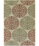 RugStudio presents Couristan Five Seasons Montecito Cream/Coral Red Machine Woven, Good Quality Area Rug
