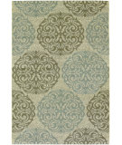 RugStudio presents Couristan Five Seasons Montecito Cream/Sky Blue Machine Woven, Good Quality Area Rug