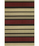 RugStudio presents Couristan Five Seasons Santa Barbara Red/Natural Flat-Woven Area Rug