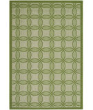 RugStudio presents Couristan Five Seasons Retro Clover Green/Cream Machine Woven, Good Quality Area Rug
