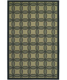 RugStudio presents Couristan Five Seasons Retro Clover Black/Cream Flat-Woven Area Rug