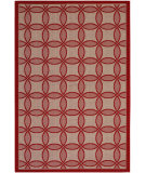RugStudio presents Couristan Five Seasons Retro Clover Red/Natural Flat-Woven Area Rug