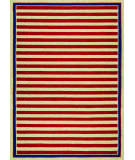 RugStudio presents Couristan Covington Nauticalstripes Red/Navy Area Rug
