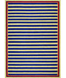RugStudio presents Couristan Covington Nauticalstripes Navy/Red Area Rug