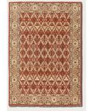 RugStudio presents Couristan Chobi Persian Trellis Burnished Rust-Ivory 3352-0100 Hand-Knotted, Best Quality Area Rug