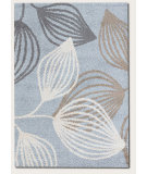 RugStudio presents Couristan Moonwalk Spindle Leaf Blue Area Rug