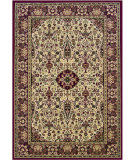 RugStudio presents Couristan Everest Ardebil Ivory/Red 3760-6004 Woven Area Rug