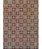 RugStudio presents Couristan Retrograde Galaxy Burgundy/Ivory Hand-Knotted, Good Quality Area Rug