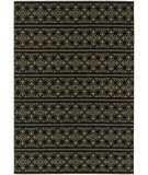 RugStudio presents Couristan Dolce Casatta Gold/Black Machine Woven, Good Quality Area Rug