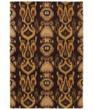 RugStudio presents Couristan Sierra Vista Hayden Burgundy/Gold Hand-Tufted, Good Quality Area Rug