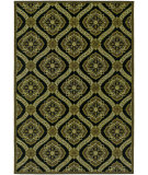 RugStudio presents Couristan Dolce Napoli Black/Gold Machine Woven, Good Quality Area Rug