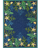 RugStudio presents Couristan Outdoor Escape Sea Water Ocean/Aqua Hand-Hooked Area Rug