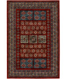 RugStudio presents Couristan Timeless Treasures Royal Kazak Burgundy Machine Woven, Good Quality Area Rug