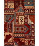 RugStudio presents Couristan Timeless Treasures Kerman Mosaic Burgundy/Rust Machine Woven, Good Quality Area Rug