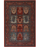 RugStudio presents Couristan Timeless Treasures Vintage Baktiari Burgundy Machine Woven, Good Quality Area Rug