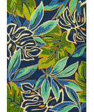 RugStudio presents Couristan Covington Areca Palms Azureforestgreen Hand-Hooked Area Rug