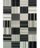 RugStudio presents Couristan Afuera Patchwork Onyx/Ivory Machine Woven, Good Quality Area Rug