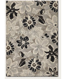 RugStudio presents Couristan Everest Wild Daisy Grey/Black/White Machine Woven, Good Quality Area Rug