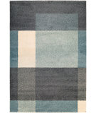 RugStudio presents Couristan Moonwalk Fortress Charcoltealivory Area Rug