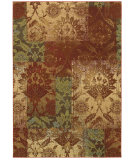 RugStudio presents Couristan Alameda Ethereal Garden Paprika/Beige Machine Woven, Good Quality Area Rug