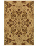 RugStudio presents Couristan Alameda Piper Beige/Maroon Machine Woven, Good Quality Area Rug