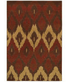 RugStudio presents Couristan Alameda Cultural Weave Maroon/Beige Machine Woven, Good Quality Area Rug